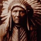E.S.Curtis. Three horses native american