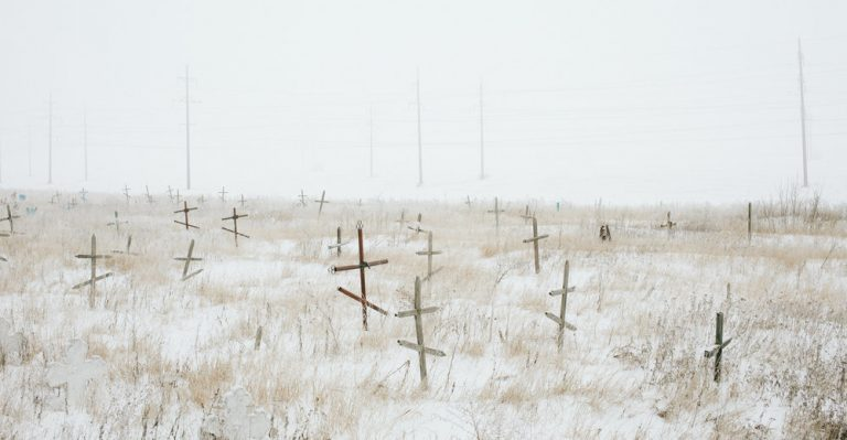 Unmarket graves, Belitskoe, Donetsk region, January 2015
