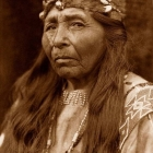 E.S.Curtis.Old woman native american